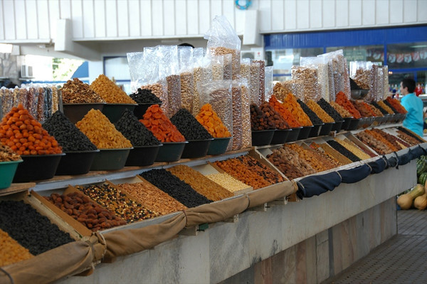 Dried Fruits and Nuts at Gulustan Market - Ashgabat, Turkmenistan