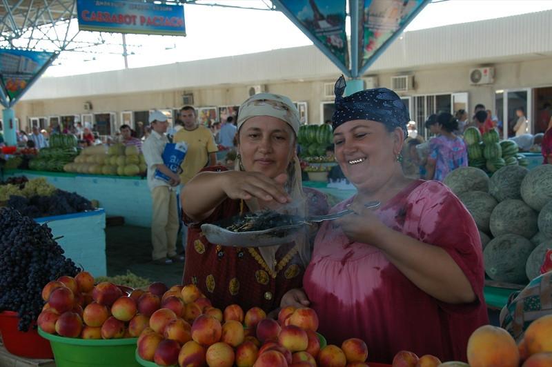 Purifying Herbs at Bukhara Market - Bukhara, Uzbekistan