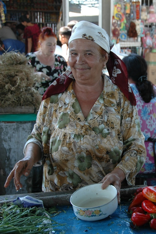 Happy Vendor at Kryyty Market - Bukhara, Uzbekistan