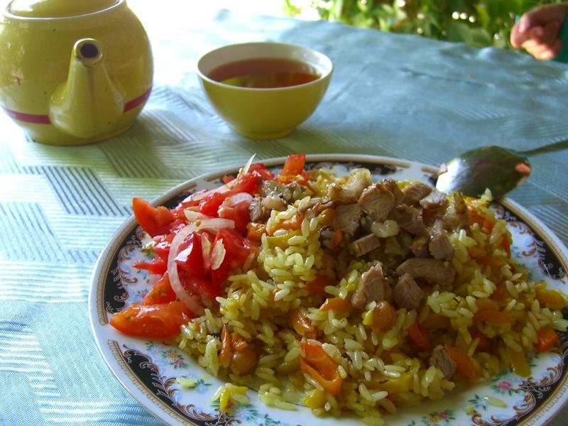 Fresh Plov (Rice Dish) - Tashkent, Uzbekistan