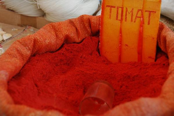 Tomato Powder at Market - Nukus, Uzbekistan