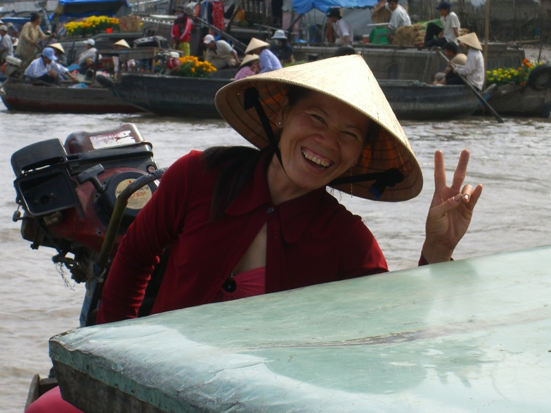 Peace Sign - Mekong Delta, Vietnam