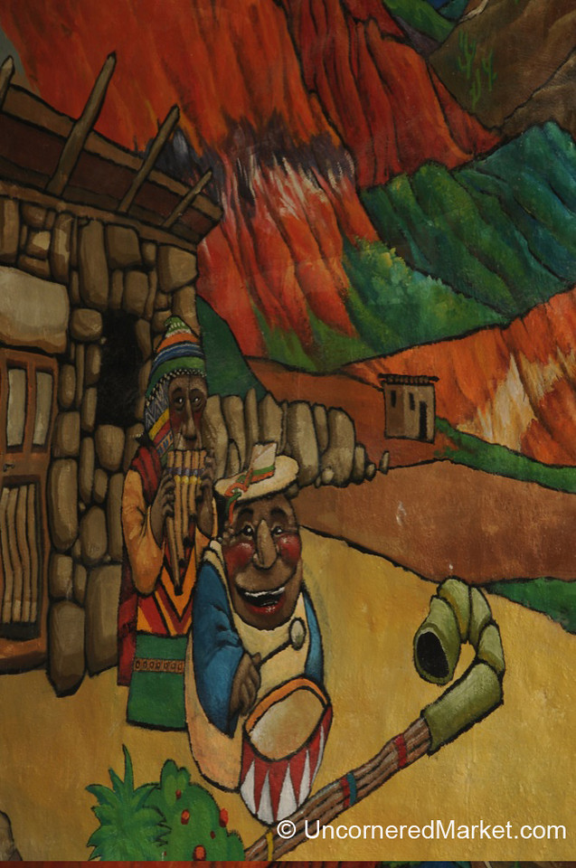Andean Street Art in Tilcara, Argentina