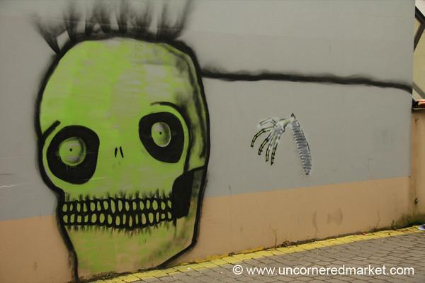 Graffiti Skull - Vilnius, Lithuania