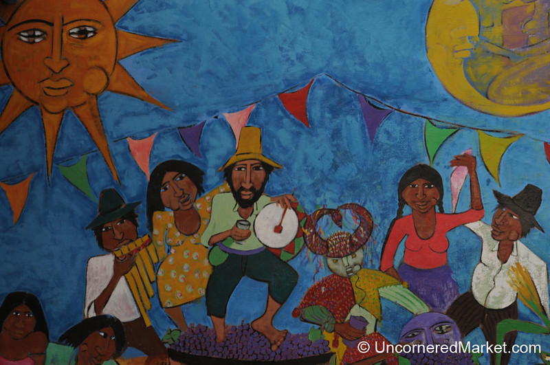 Music and Dancing on the Walls of Tilcara, Argentina