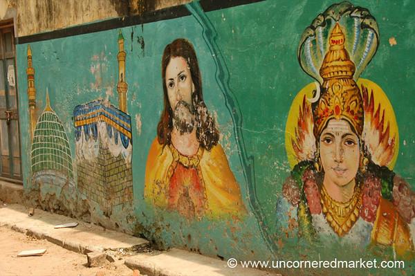 Religious Unity Graffiti - Chennai, India