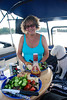 One gets a good appetite boating - Liz always came up with healthy meals. I only had to look after the entire ship and crew!