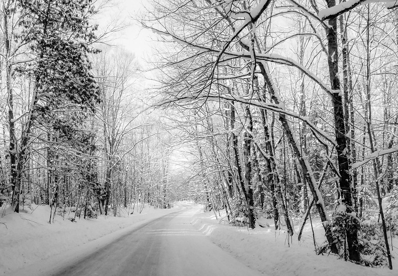 """The last few miles as we approached our cottage destination. """"Winter Wonderland"""""""