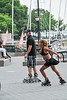 This gal could really skate - doing some amazing feats on roller blades.
