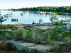 Beach at Beausoleil Island near Honey Harbour - a favorite spot 20 minutes from our dock. Our boat is anchored just right of centre.