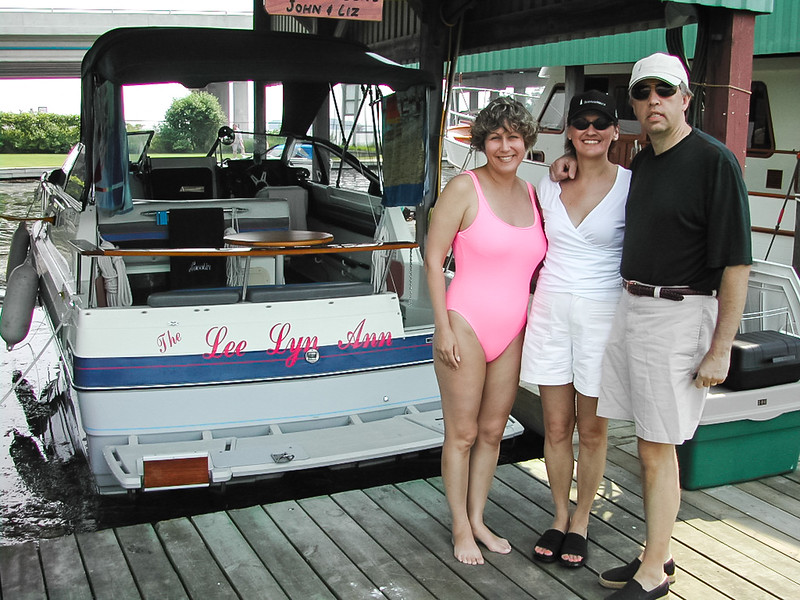 In 2001 we bought this Bayliner 2455 lying in Orillia on Lake Simcoe. We spent 3 years on this lake before moving it to the much preferred Georgian Bay where we had previously kept our sail boat.