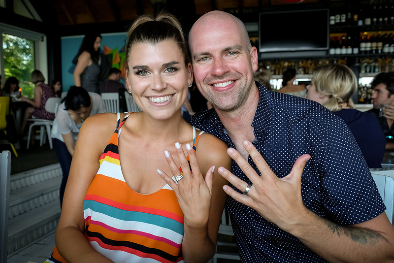 Andrea and Joe - happily married, with rings to prove it!