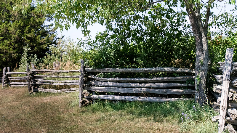 We came across some nice split rail fences. Being cedar, they will last 35-40 or more years. I grew up in the Quebec countryside in the 50's/60's, and they were commonplace there.