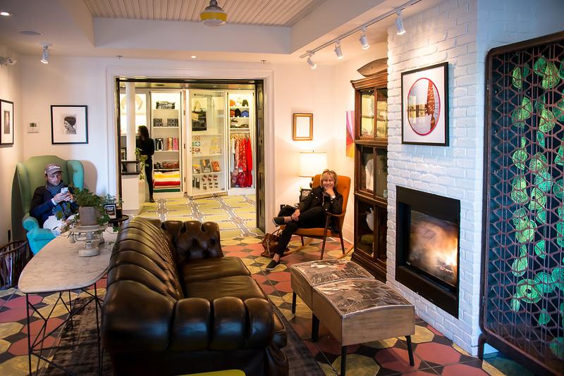 The lounge near reception