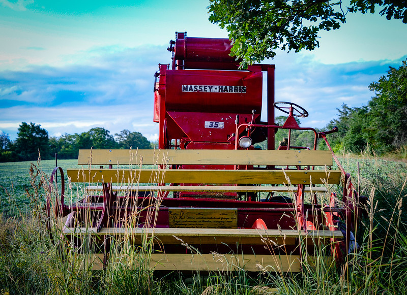 """I came across a """"Farm Equipment Museum"""" of sorts on Closson Road. Fascinating to me as I grew up on a hobby farm in Quebec, but you my wish to skip the next 35 pics!"""