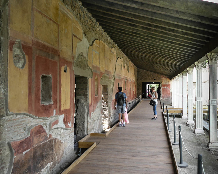 Original facades with original colour pigments as they were uncovered and found.