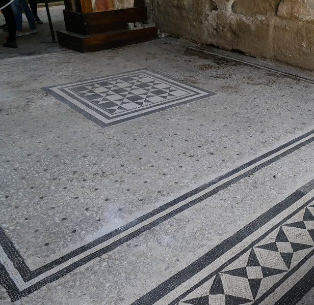 Tile floor hardly needed any repairs after 2000 years!