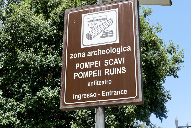 It was about a 45 minute drive to the Pompeii ruins.