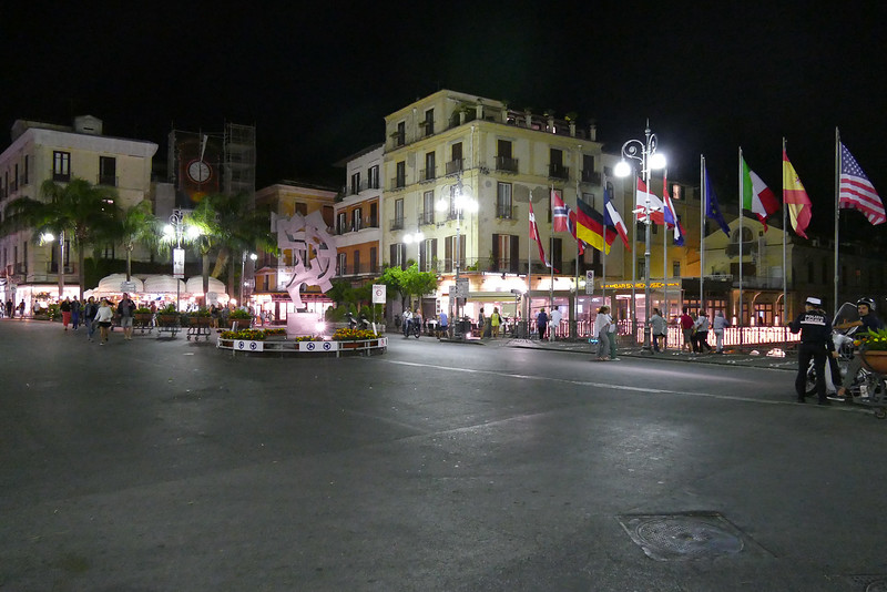 Sorrento's central square - 10PM Autos generally not permitted after 6pm.