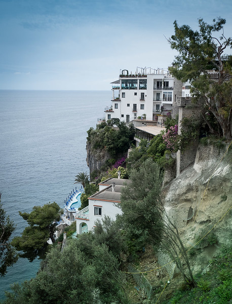 Our hotel,  taken from the road into Amalfi, just a 5 minute walk away.
