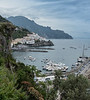 View of Amalfi from our hotel, looking east.