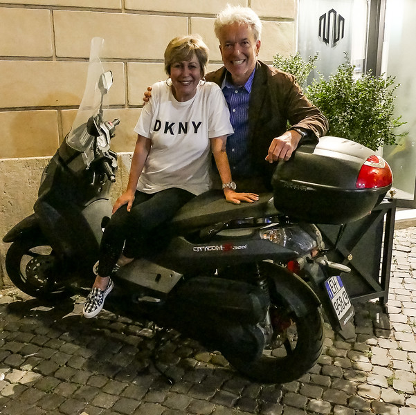 Ralph gets around Rome quickly on this impressive bike.
