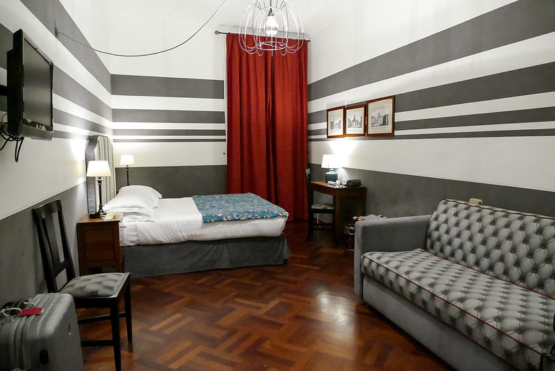 Our B & B room - quite large by Rome standards - very comfortable for our 3 night stay.