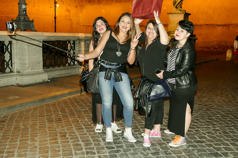 """Taking a selfie on a """"Girls night out!"""" They were from Prague, as I recall."""