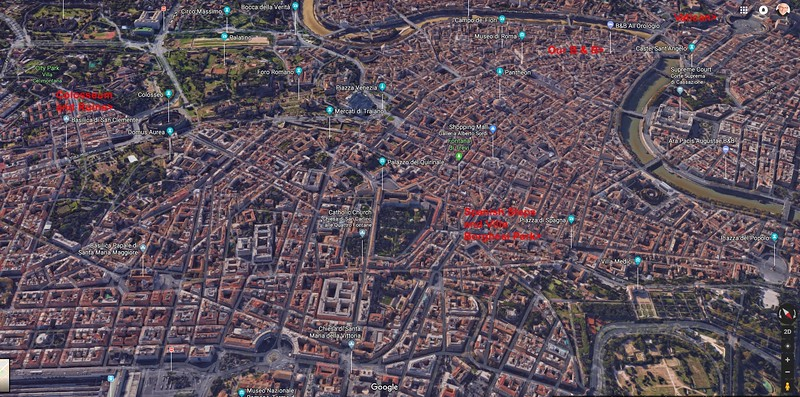 Click image for Full Size display - Overview of Rome and key attractions