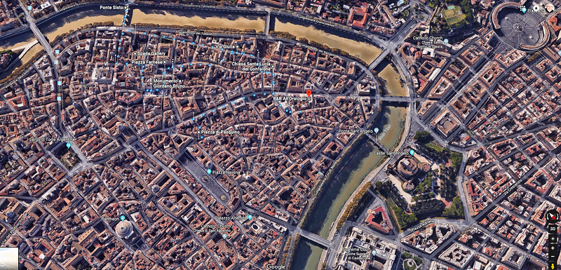 This shows our B&B location and Piazza Navona just a short walk away