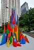 Small park in lower Manhattan