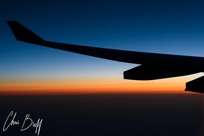 Sunrise at 37,000 feet - 2016 Christopher Buff, www.Aviationbuff.com