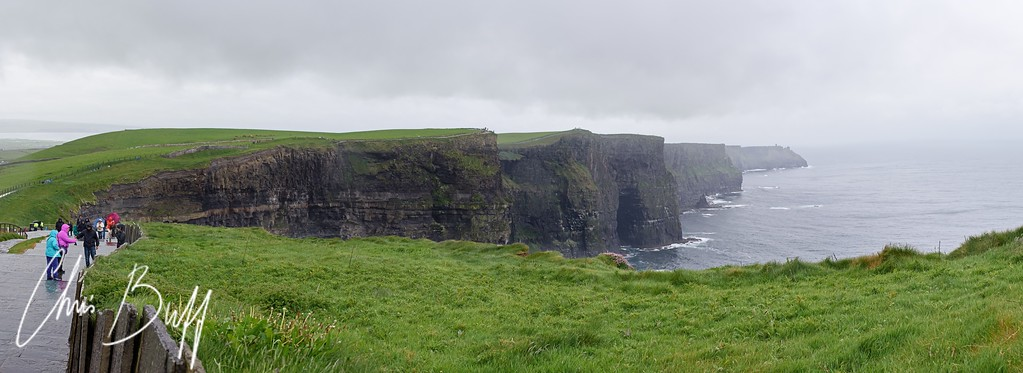 Cliffs of Moher on a stormy day - Panorama - 2016 Christopher Buff, www.Aviationbuff.com