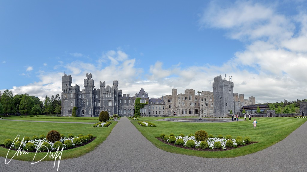 Ashford Castle Panorama - 2016 Christopher Buff, www.Aviationbuff.com