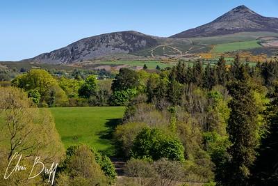 Sugarloaf Mountain view from Powerscourt, Ireland - 2016 Christopher Buff, www.Aviationbuff.com