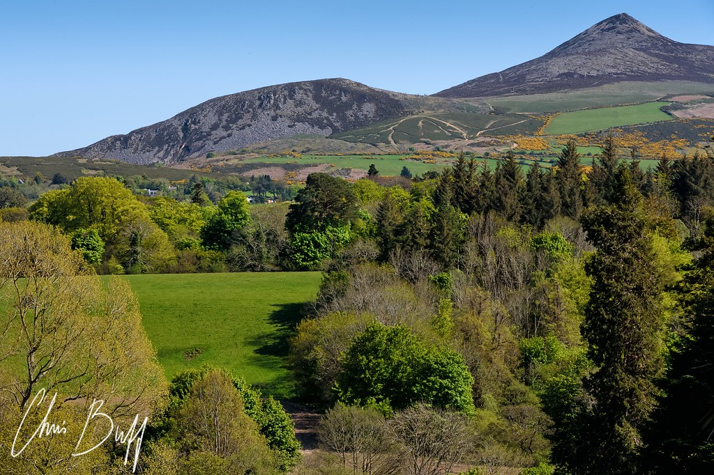 Sugarloaf Mountain view from Powerscourt, Ireland - 2016 Christopher Buff, www.Aviationbuff.com