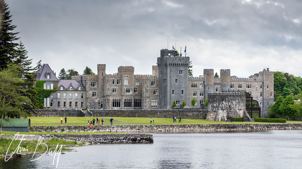 Ashford Castle from the Lake - 2016 Christopher Buff, www.Aviationbuff.com