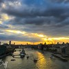 Sunset on the Thames - Christopher Buff, www.Aviationbuff.com