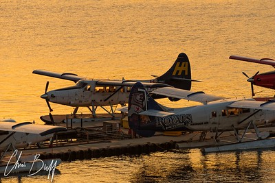 Vancouver Harbour Sunset - 2018 Christopher Buff, www.Aviationbuff.com