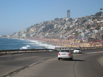 The ride into Vina del Mar, Chile.