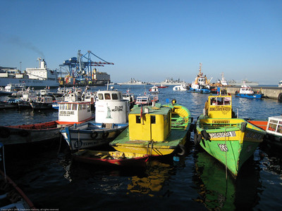 Tourist boats, Valparaiso, Chile