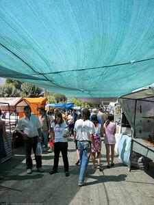 market aisle, El Bolson, Argentina.