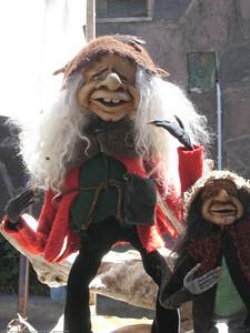 market fok character figurines, El Bolson, Argentina.
