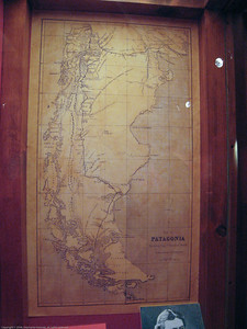 Early map of Patagonia. Patagonian Museum, Argentina.