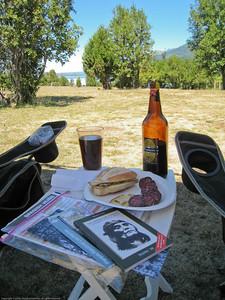 Lunch. Lake Futalaufquen, Argentina.