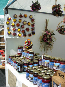 market wares, El Bolson, Argentina.