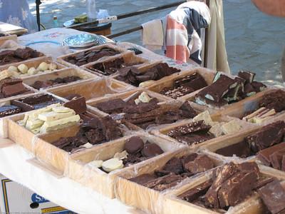 chocolate, market, El Bolson, Argentina.