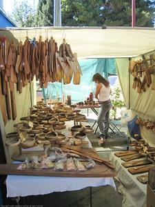 market stall, El Bolson, Argentina.