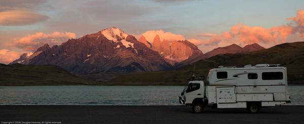 Sunrise. Laguna Amarga. Near Torres del Paine National Park, Chile.