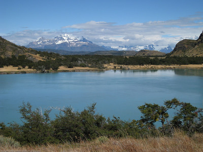Lake and mountain view. Parque Nacional Torres del Paine, Chile